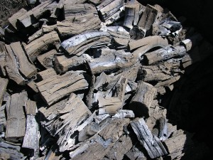 British Hardwood Charcoal in a round Kiln