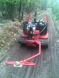 Iron Horse extracting 18' coppice poles