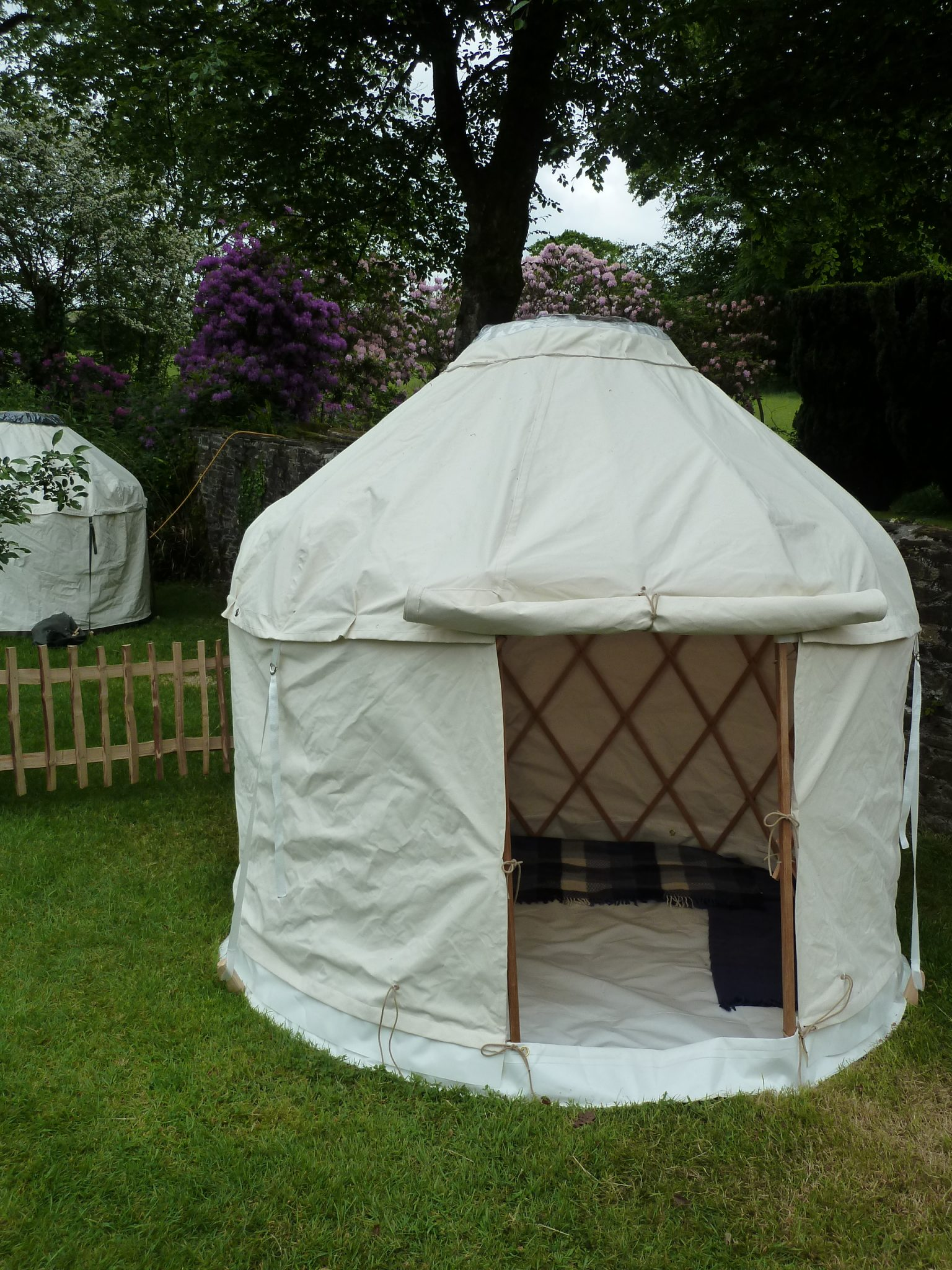 Our Small Yurt On Show In The Gardens At Coombe Trenchard