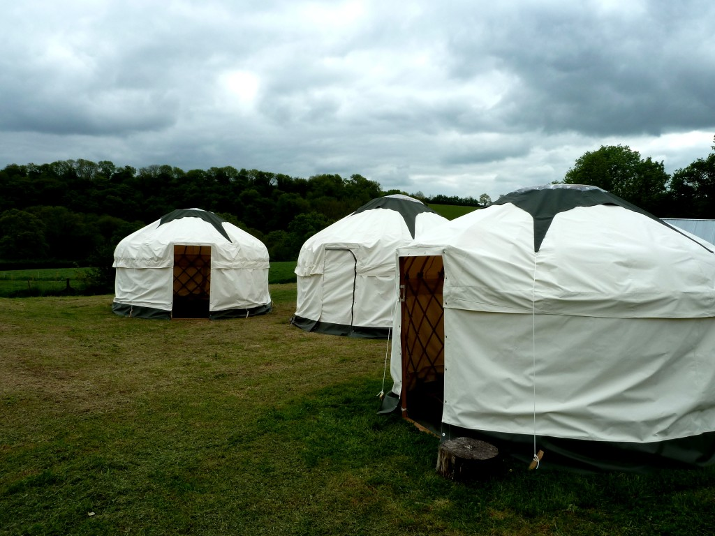 Yurt hire at wedding venue in Devon