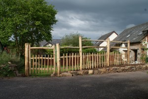 Rustic Post & Rail Fence with matching gate