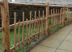 Rustic Picket fence with handrail