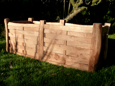 Handcrafted large Oak double planter