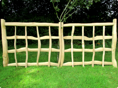 Handcrafted cleft Oak double gates