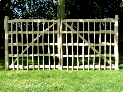 handcrafted large Oak double gates